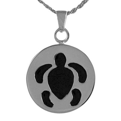 Round Turtle Cremation Jewelry III