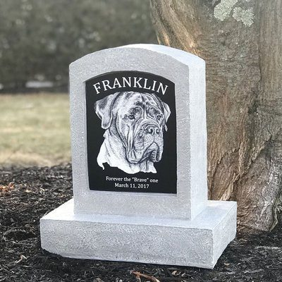 Upright Rounded Large Pet Monument