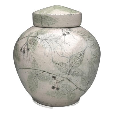 Blackberry Raku Companion Cremation Urn