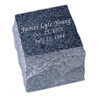 Natural Black Granite Cremation Urn