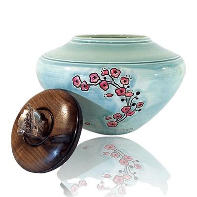 Flower Green Cremation Urn