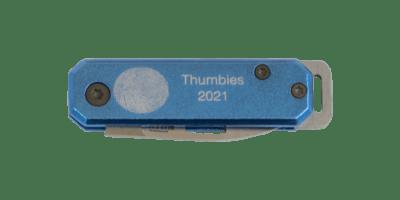 Blue Fingerprint Knife Keychain