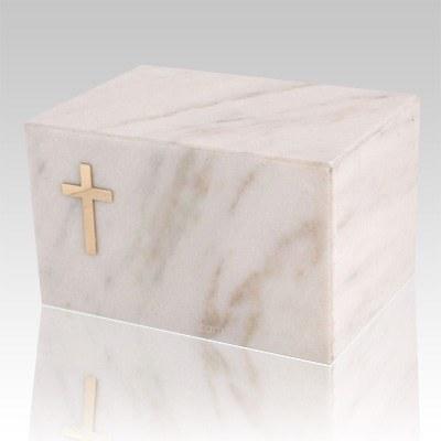 Nostalgia White Marble Cremation Urn