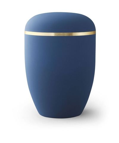 Velvety Blue Biodegradable Urn