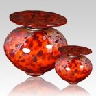 Milano Red Glass Cremation Urns