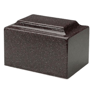 Vintage Red Granite Cremation Urns