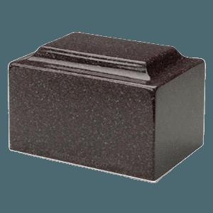 Vintage Red Granite Individual Urn