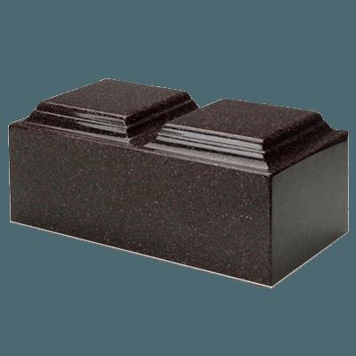 Vintage Red Granite Companion Cremation Urn