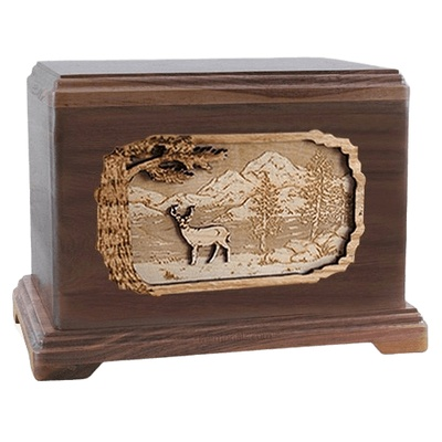 Deer Walnut Hampton Cremation Urn