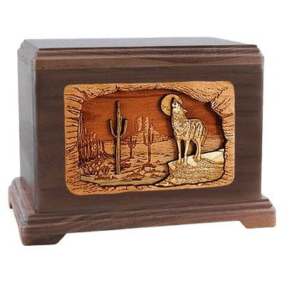 Desert Moon Walnut Hampton Cremation Urn