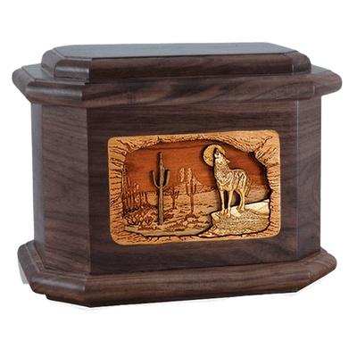 Desert Moon Walnut Octagon Cremation Urn