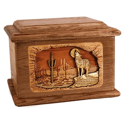 Desert Moon Walnut Memory Chest Cremation Urn