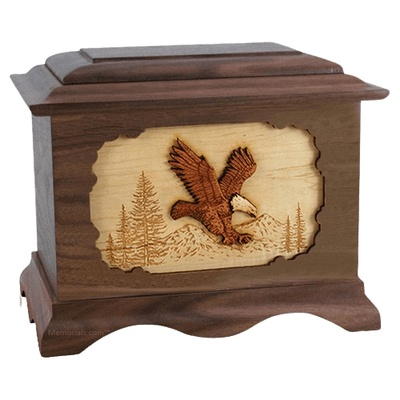 Eagle Walnut Cremation Urn