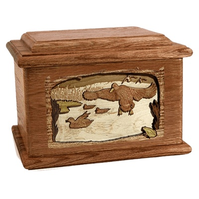 Marshland Melody Walnut Memory Chest Cremation Urn