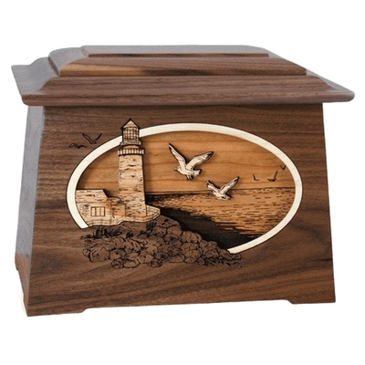 Sea Coast Walnut Aristocrat Cremation Urn