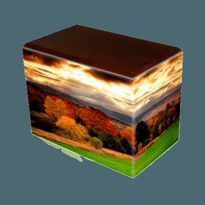 Autumn Walnut Child Cremation Urn