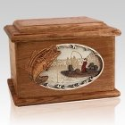 Catch of the Day Walnut Memory Chest Cremation Urn