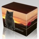 Country Pet Picture Wanut Urns