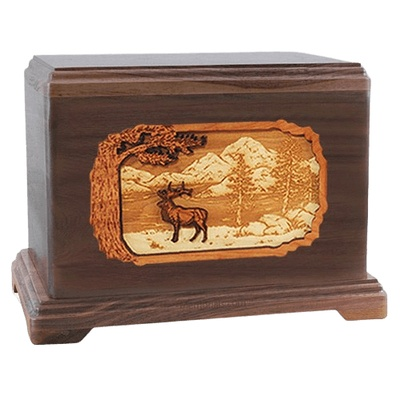 Elk Walnut Hampton Cremation Urn