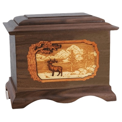 Elk Walnut Cremation Urn