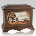 Golf Walnut Cremation Urn