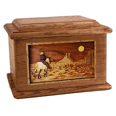 Horse Moon Walnut Memory Chest Cremation Urn