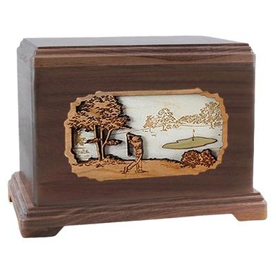 Golf Walnut Hampton Cremation Urn