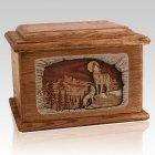 Moonlight Serenade Walnut Memory Chest Cremation Urn