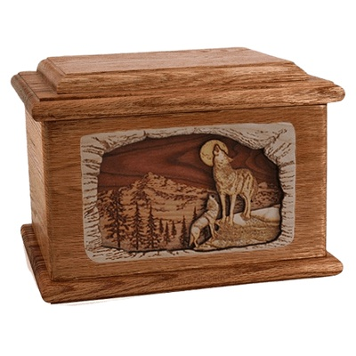 Moonlight Serenade Walnut Memory Chest Cremation Urn