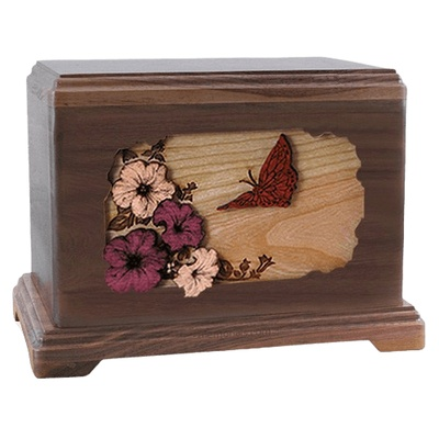 Butterfly Walnut Hampton Cremation Urn
