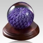Purple Eternal Weave Glass Keepsake