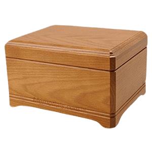 Westhampton Oak Wood Cremation Urn