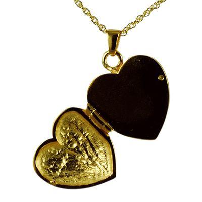 Wing Heart Locket Keepsake Pendant II