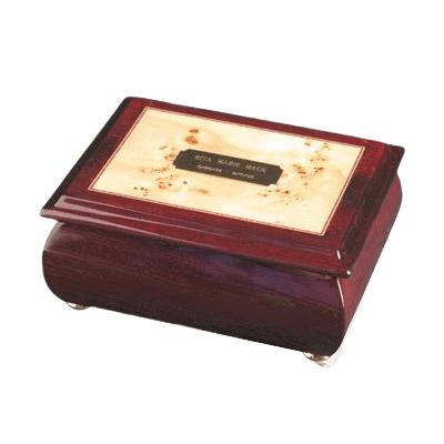 Provincial Wood Cremation Urn
