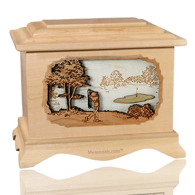 Golf Maple Cremation Urn