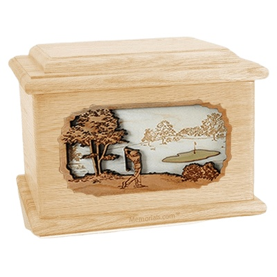 Golf Maple Memory Chest Cremation Urn