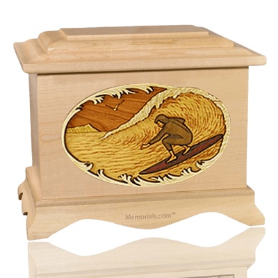 Surfer Maple Cremation Urn