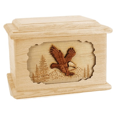 Eagle Maple Memory Chest Cremation Urn