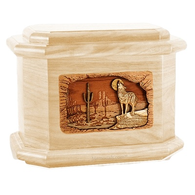 Desert Moon Maple Octagon Cremation Urn