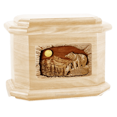 Country Haven Maple Octagon Cremation Urn
