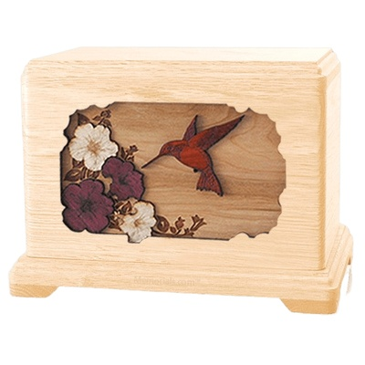 Hummingbird Maple Hampton Cremation Urn