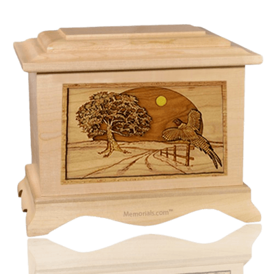 Pheasant Maple Cremation Urn