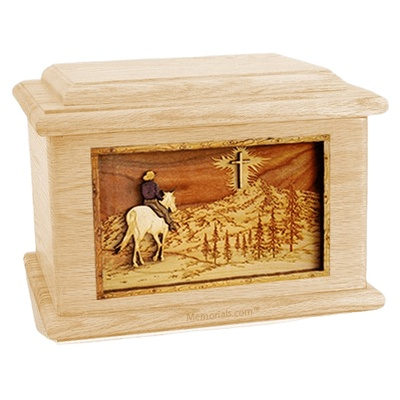 Last Horse Ride Maple Memory Chest Cremation Urn