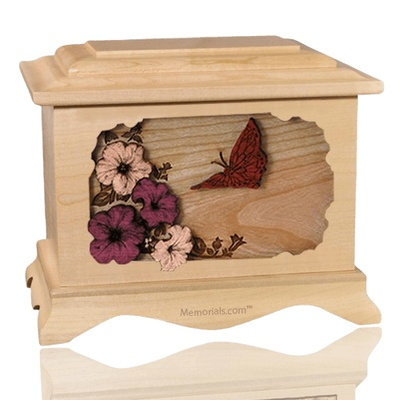 Butterfly Maple Cremation Urn