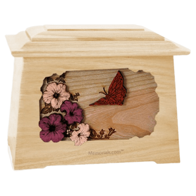 Butterfly Maple Aristocrat Cremation Urn