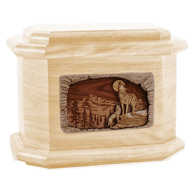 Moonlight Serenade Maple Octagon Cremation Urn