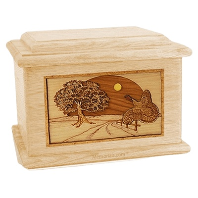 Turkey Maple Memory Chest Cremation Urn