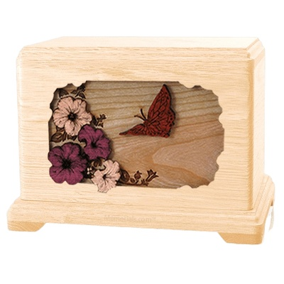 Butterfly Maple Hampton Cremation Urn