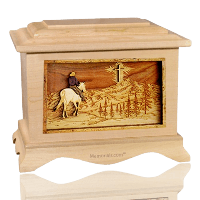 Last Horse Ride Maple Cremation Urn