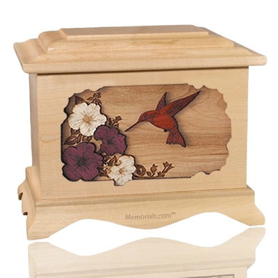 Hummingbird Maple Cremation Urn